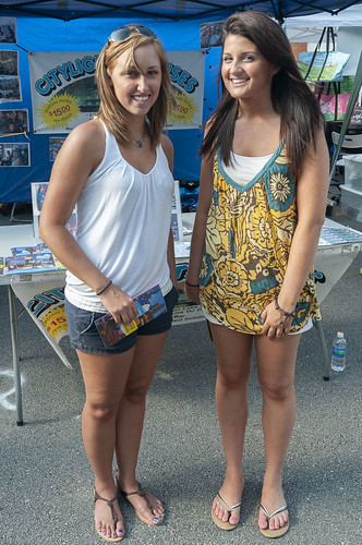 Two Girls in Sandals - a photo on
