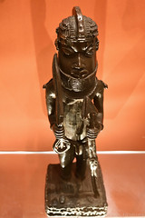 Cast Brass Figure of a Page (16th-17th Century) (Bri_J) Tags: britishmuseum london uk museum historymuseum nikon d7500 cast brass figure page benin nigeria africanart spear
