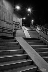 The stairs of the station 1B3A9135-Modifier (mg photographe) Tags: stairs escalier gare station lumières étoiles stars dijon bourgogne bw burgundy night nuit