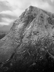 Beauty Comes in Many Forms - Stob Dearg Feb 2019 (GOR44Photographic@Gmail.com) Tags: stobdearg buachailleetivemor beinnachrulaiste glen coe etive mono bw scotland monoscotland mountain hill highlands munro corbett cloud argyll snow winter white black peak panasonic olympus 1240mmf28 g9