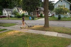 Joseph Mowing (BunnyHugger) Tags: home joseph lansing lawn lawnmower michigan mowing