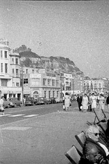 Coastal town (vintage ladies) Tags: vintage blackandwhite photograph photo man male smile smiling suit tie