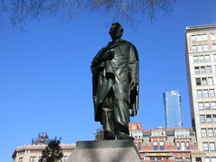 President Abraham Lincoln Bronze statue Union Square Park 1550 (Brechtbug) Tags: former president abraham lincoln bronze statue union square park artist sculptures statues manhattan new york city 2019 nyc art arts world abe characters next tourists february 02162019 presidents day life size portrait portraits urban winter season stair stairs step facade museum front entrance top hat tophat stove pipe hats formal dress politician politics political gent
