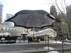 2019 Big Umbrella Academy in Bryant Park NYC 1315 (Brechtbug) Tags: big umbrella bryant park nyc 2019 february 02132019 new york city 6th avenue near 42nd st behind public library midtown manhattan the academy netflix tv series comic book based starting friday 15th bumbershoot umbrellas