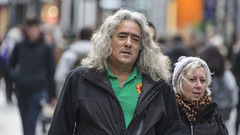 Out for a stroll (Frank Fullard) Tags: frankfullard fullard candid street portrait stroll green walk hair dublin irish ireland saunter graftonstreet colour color