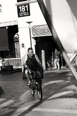 2019-02-15_08-56-21 (jumppoint5) Tags: blackandwhite bicycle cyclist light shadow city urban contrast people street