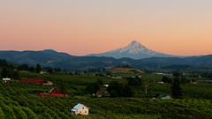 If the only prayer you ever say in your entire life is thank you, it will be enough… (ferpectshotz) Tags: mthood hoodriver sunset twilight goldenhour mountains farms green hoodrivervalley valley cascademountains fertile