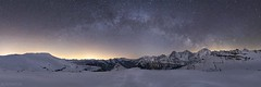 Panorama at night - Lobhörner (Captures.ch) Tags: aufnahme capture alpen alps berge forest glacier gletscher hill himmel hügel landscape landschaft mountains sky tal valley wald switzerland bern berneroberland eiger jungfrau mönch isenfluh lobhörner swiss winter milchstrasse milkyway stars sterne nacht night klar clear