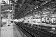 arrived, and gone… (peaceblaster9) Tags: station train platform people arrival departure blackandwhite bnw bw blackwhite monochrome sendai japan travel 駅 鉄道 ホーム 白黒 モノクロ モノクローム 仙台 東北