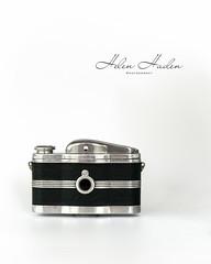 Back to front (hehaden) Tags: sel55f18z camera vintage foxtechna lordsuper artdeco whitebackground back
