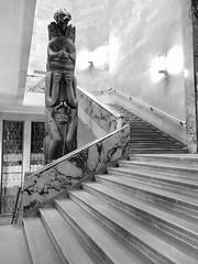 Staircase (Cindy's Here) Tags: staircase totempole madeofstone rom royalontariomuseum toronto ontario canadaiphone 119 97