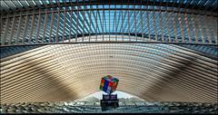 Bahnhof Liège-Guillemins (antonkimpfbeck) Tags: architektur bahnhof calatrava liègeguillemins lüttich fujifilm
