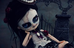 Shinigami (Ma★D ❥parker - custom dolls etc.) Tags: dal poupée doll collectible ooak zombie dead shinigami angedelamort skeleton squelette custom dark halloween
