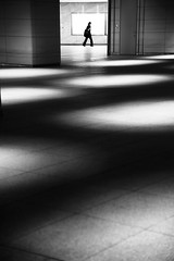 Shadow floors (reiko_robinami) Tags: streetphotography shadow lightandshadow street urban city architecture monochrome blackandwhite tokyo japan oneperson