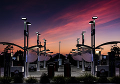 Sunrise can be such a Gas (hughjones777) Tags: petrol station gull sunrise nz