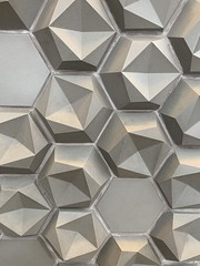 Wall at Terminal 2 at #LAX (remiklitsch) Tags: art modern modernart abstract angles miksang travel remiklitsch iphone design intetest dimension 3d texture gray grey wall lax