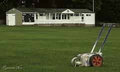 White Lines (pygarian_nox) Tags: cricket youlgrave derbyshire grass white lines pavilion scoreboard boundry whitewash