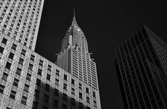 Chrysler Building (infrared) (dr_marvel) Tags: ir infrared nyc newyorkcity newyork chryslerbuilding chrysler blackandwhite skyscraper architecture building offices