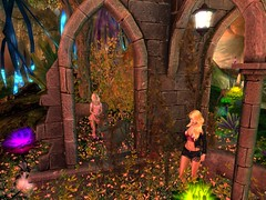 The Ruins of Auberdine (Cherie Langer) Tags: firestorm secondlife secondlife:region=terraviaisland secondlife:parcel=gardenofwhimsymagic secondlife:x=134 secondlife:y=174 secondlife:z=21