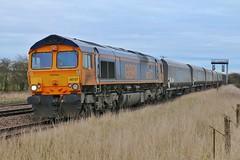 "Lesia - ""Pledged to God!"" (JohnGreyTurner) Tags: br rail uk railway train transport diesel engine locomotive newbarnetby freight 66 class66 shed coal hoppers lincolnshire"