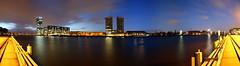 Spree Panorama (Pinky0173) Tags: spree berlin panorama stiching moring friedrichshain kreutzberg oberbaumbrücke trebtower molekulemen bluehour canon pinky0173