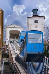 Funicular in Zagreb (Yvan Rouxel) Tags: cityofzagreb croatia january lotrscaktower wpcroatia winter zagreb hrv