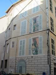 Cahors (28 rue Maréchal Joffre) (bgential) Tags: mur peint mural fresque murale trompeloeil cahors