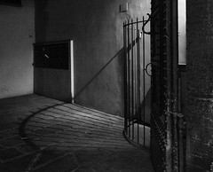 """ Light, shadows and silence "" (pigianca) Tags: italy florence monochrome blackwhite light shadows leicacl elmarittlasph18mm"