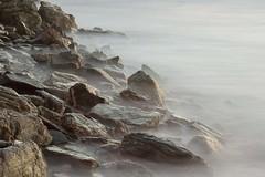Watergate Bay Rocks (Julian Barker) Tags: watergate bay newquay cornwall kernow south west canon dslr julian barker coast sea atlantic ocean rocks mist long exposure misty shoreline