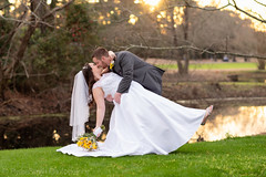 Dip by the golf course pond - Litchfield Country Club (Ryan Smith Photography) Tags: bride dip golfcourse groom litchfieldcountryclub pawleysisland wedding weddingphotography myrtlebeach httpswwwryansmithphotographycom