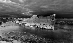 Jack, I'm flying... (dmunro100) Tags: adelaide southaustralia excelsior ship wreck muttoncove monochrone