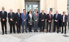 """Descubrimiento de la placa del Premio Hispania Nostra 2018 a la remodelación de Ferrándiz y Carbonell, en Alcoy (Alicante) e inauguración de la exposición """"Re-conociendo el Patrimonio español en Europa"""" • <a style=""""font-size:0.8em;"""" href=""""http://www.flickr.com/photos/141347218@N03/32620715457/"""" target=""""_blank"""">View on Flickr</a>"""