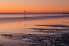 Southern sunset (Wizmatt) Tags: long exposure cokin 10 stop filter canon 70d landscape seascape sea beach west wittering sunset colours orange