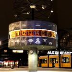 Finally snow at the Berlin world time clock. thumbnail