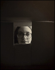 Mabel (Bob R.L. Evans) Tags: abstract dada neodada composition glasses sepiatone face youngwoman unusual irreverent light shadow lightandshadow