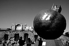 Rome | Italy (maryduniants) Tags: sculpture giuseppecarta italia roma melagrana pomegranate cityscape rome italy blackandwhite
