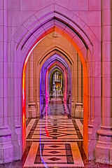 Washington National Cathedral (Susan Candelario) Tags: gothic imagecolorstyleformat interiorexterior northamerica susancandelario unitedstatesofamerica worldregionscountries washingtondc washingtonnationalcathedral arch architecturaldetail architecture building cathedral church column interior religiousbuilding