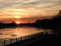 HFF (BrigitteE1) Tags: hff sunsetandfence geotagged weserwehr bremen deutschland germany sunset fence