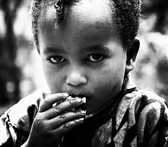 Oromo Girl (Rod Waddington) Tags: africa african afrique afrika äthiopien ethiopia ethiopian ethnic ethnicity etiopia ethiopie etiopian oromo tribe traditional tribal culture cultural child girl blackandwhite portrait people