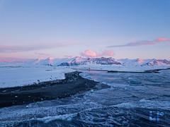 Sunrise at Jökulsárlón Glacier (rungegraphy) Tags: sunrise glacier ice winter snow iceland diamondbeach dji mavic drone ocean sea traveling roadtrip hiking beach blacksand