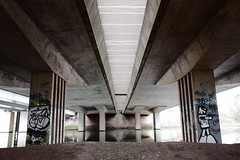 Underneath the A45 (Lauren Clarke Photography) Tags: fujifilmxf10 28mm classicchrome