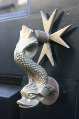 Door Knocker - Bath (chrisw09) Tags: doorknocker bath dolphin maltesecross brass blackpaint