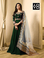 Green Georgette #AnarkaliSuit #YOYOFashion Online Shopping. (yoyo_fashion) Tags: fashion style wedding look shopping designer outfitoftheday lookbook fashiongram stylist shoppingonline indianwedding womenfashion ethnic indianfashion offer indianwear ethnicwear punjabiwedding bridalwear designerwear