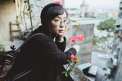 (Kevin .H) Tags: 台灣 台北 老房子 公寓 老舊 花 建築 女孩 外拍 攝影 人像 光 街景 人 taipei taiwan street light sunshine old cat girl women photography portrait people flower