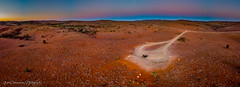 Flinders Ranges sun setting (Catherine Gidzinska and Simon Gidzinski) Tags: 2018 australia december endofyear flindersranges outback panorama roadtrip sa southaustralia summer aerial drone landscape nature orange path paths red redearth road ngc gidzinski gidzinska sunset dirtroad adventure flinders people