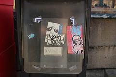 Link, Crene, Hence, Bines (NJphotograffer) Tags: graffiti graff pennsylvania pa link crene hence cf crew bines sticker