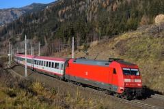 101 040, EC 111 ( München > Klagenfurt ). Kolbnitz (M. Kolenig) Tags: db101 tauernbahn eurocity baum berg wald