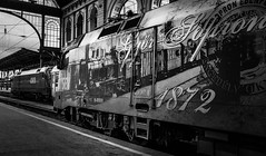 Budapest in black and white (PhotoFreakx) Tags: fineart blackandwhite industrial trainstation train budapest bw