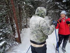 Snowy back (M.R.Kirk) Tags: sylvania outfittersskiingskixc ski watersmeet up