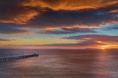 Blue Valentines DSC_2885 (BlueberryAsh) Tags: seascape art texture pointlondsdale pier water ocean sunrise sky cloudsstormssunsetssunrises clouds colour nikond750 nikon24120 greatoceanrd sun